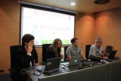 En la imagen se puede ver a los ponentes de la reunión