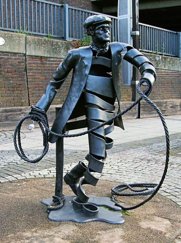 The Bargeman Statue, Town Wharf, Guildford - Surrey. - Flickr