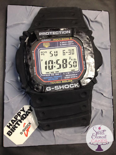 Brilliant Casio G Shock Watch Birthday Cake Sweetelement Com Jen Personalised Birthday Cards Arneslily Jamesorg