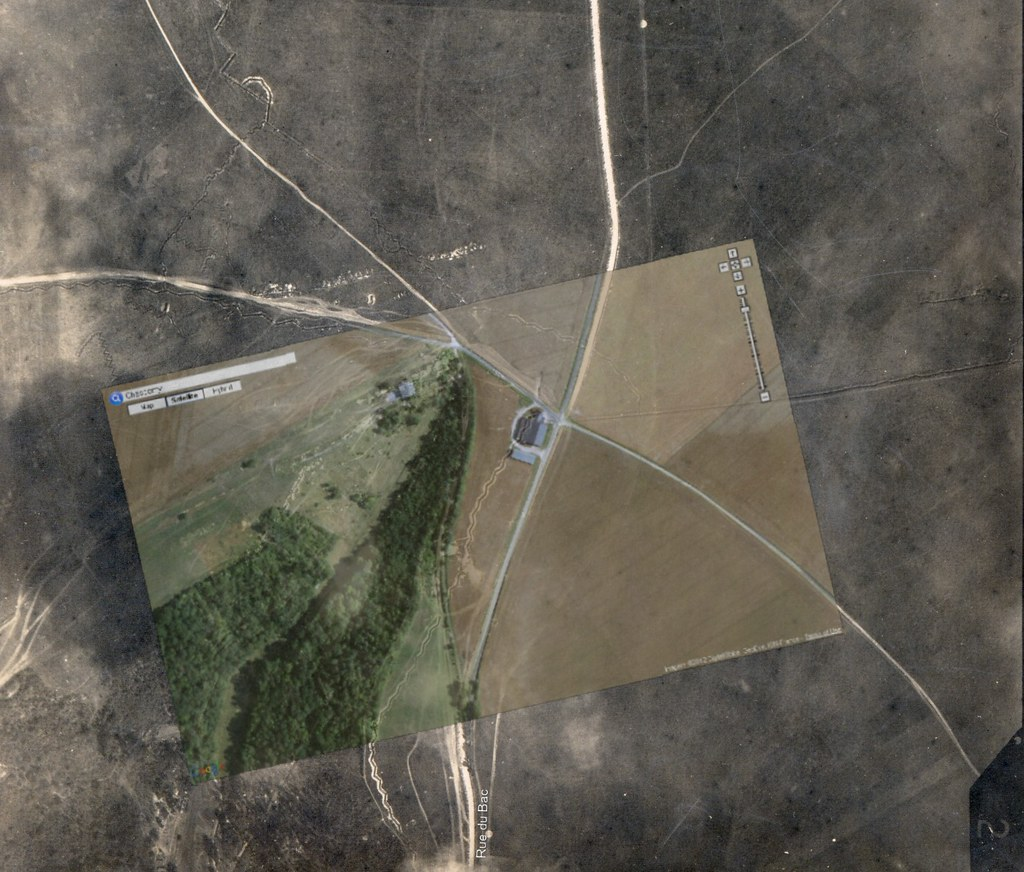 East of Chassemy with a Google Maps overlay | Aerial photogr