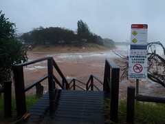 Moneys Creek Bargara. Swimming is definitely out today!