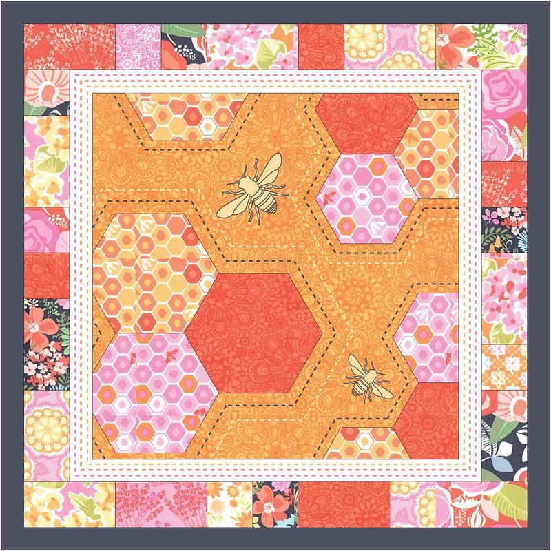 Honeycomb Pillow Mock-up (Warm Colors)
