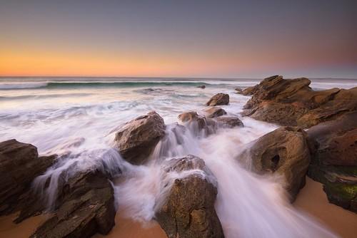 aus australia newsouthwales redhead nikond750 nikon1635mmf4 seascape rocks ocean shore sand watermovement