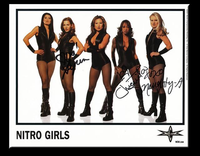 Nitro Girls Autographed Color 2001 WCW Promo Photo