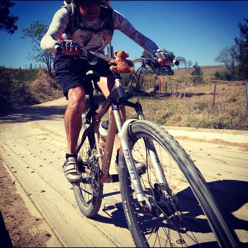 road bridge bike bicycle wheel cyclist ride offroad wheels mountainbike fast dirt mtb creativecommons dirtroad rider iphone attribution creativecommonsattribution iphoneography