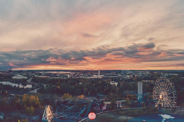 296/365 Sunset Over Linnanmäki