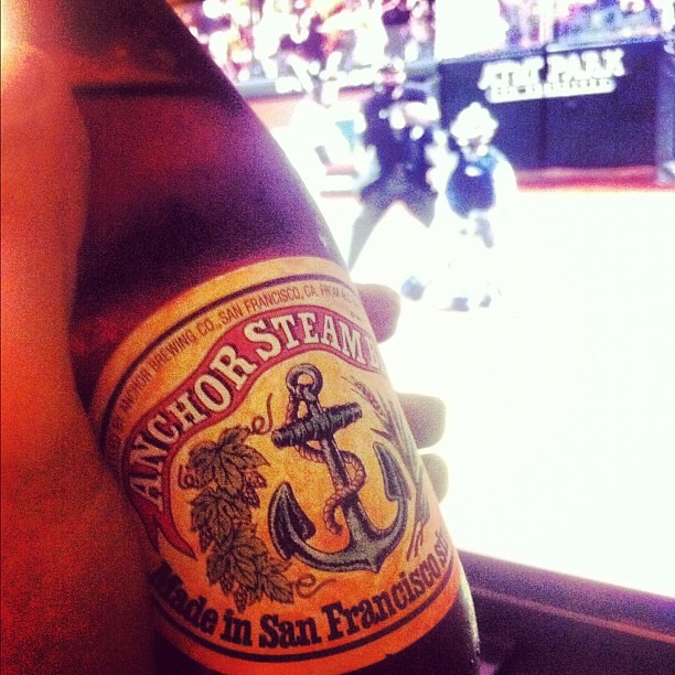 Beer and baseball on the tv - rocking the SF clichés with … | Flickr