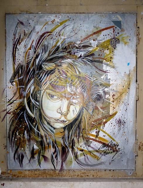 Roma. Monti. Street art by C215