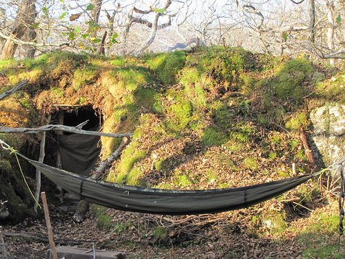 Hammock and Shelter Behind | by Alexander Michael Crow