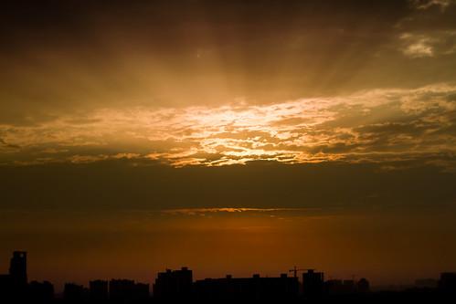 sunrise day cloudy gurgaon