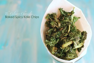 Baked Spicy Kale Chips | by The Culinary Chronicles