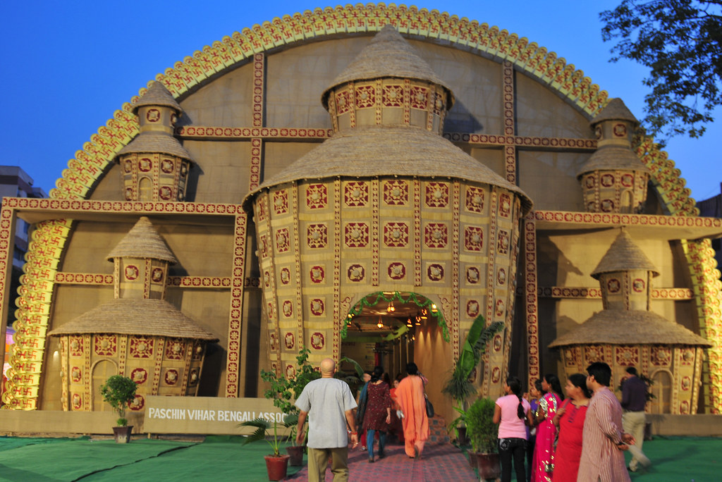 Durga Puja Pandal 2012 Paschim Vihar Delhi India Flickr