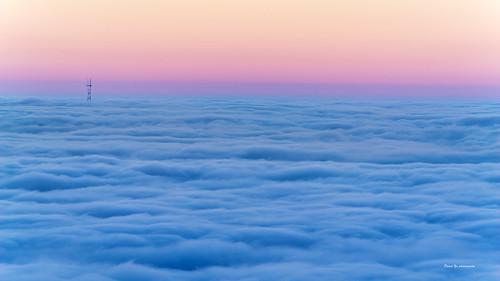 morning fog berkeley hill sfist lucky snapshot sutro tower transamerica summer sunrise