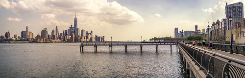 View of NYC's Financial District from Hoboken, NJ.