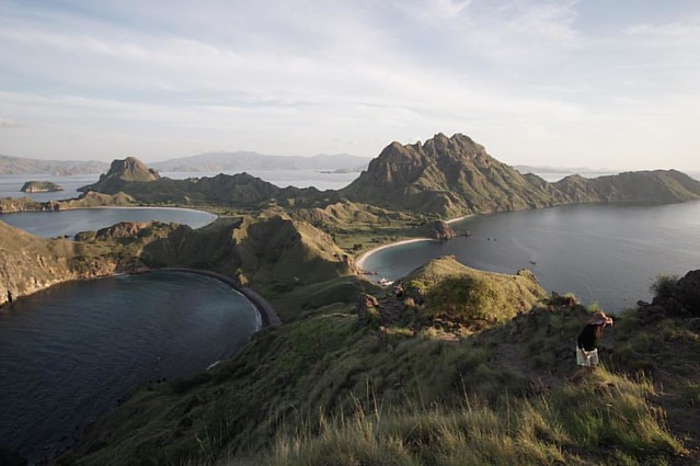 Pulau Padar, taken from the highest hill. . . I miss this place already. . . #padar #landscape