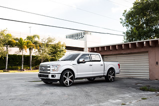 Ford F150 on CW-6 Matte Black Machined Face | by Concavo Wheels