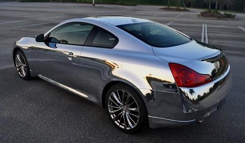 Chrome car wrap by TechnoSigns