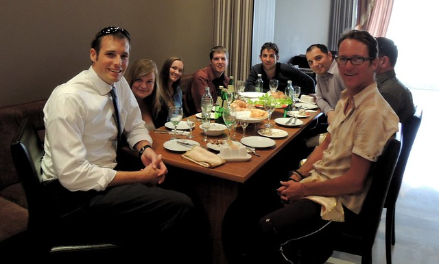 Everyone is Peace Corps, but me; 3 volunteers, DC staff, Tbilisi staff, and Kris by bryandkeith on flickr