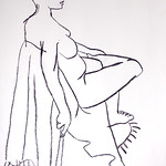 Life Drawing, Charcoal on Paper 2009