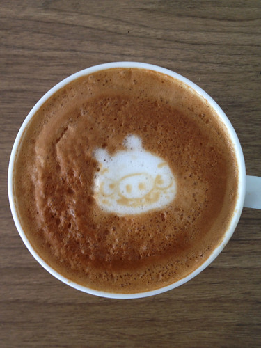 Today's latte, Bad Piggies. | by yukop