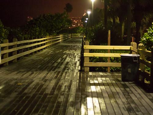miami beach boardwalk at night 2 | dan deluca | flickr