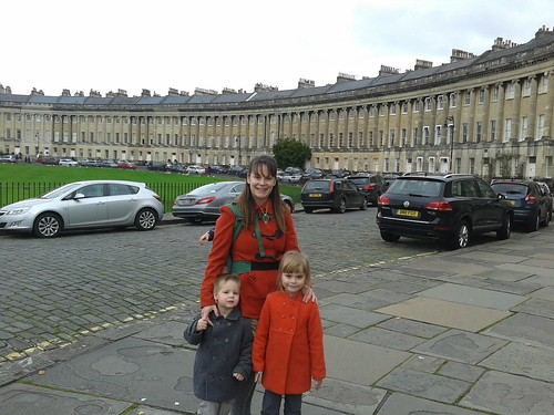 Sherrie, Lucas, Bella, and Aurelia's Foot at the Bath Royal Crescent