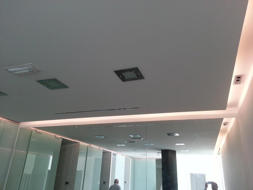 techo de pladur con foseado perimetral.