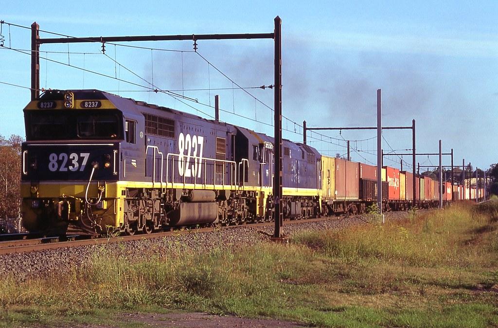 4/02/1997 8237+8048 Dn freight Enfield-Flemington by John  Hammett