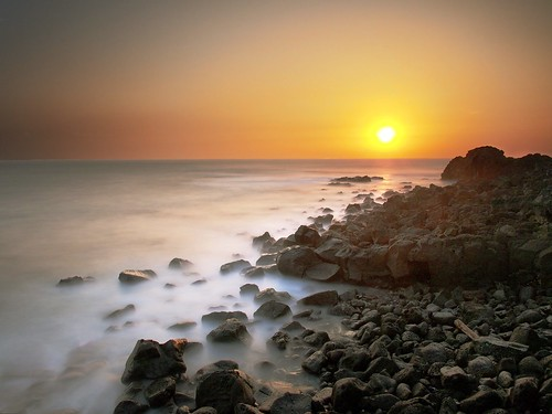 Pheonix Island, Jeju Island, South Korea Sunrise, cloned