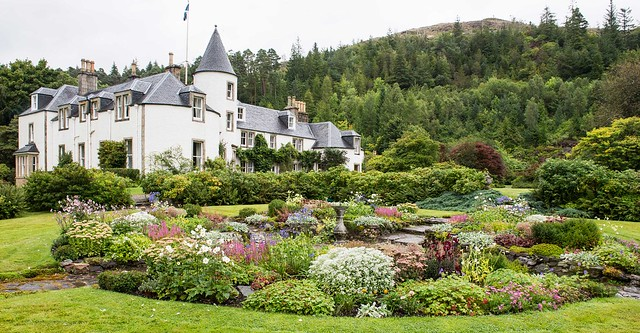 Attadale Gardens, Strathcarron, Scotland - House and Sunken Garden