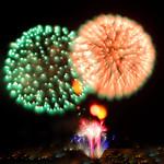 China firework Dandelion 中國 蒲公英 煙花