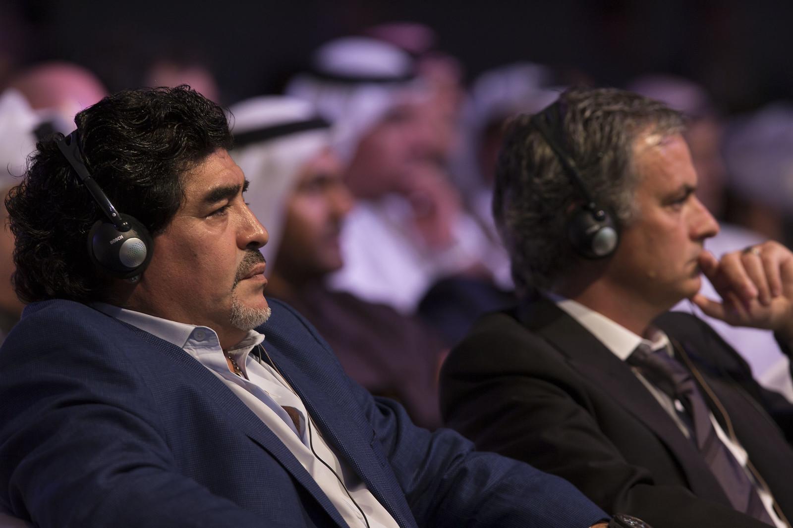 Diego Armando Maradona and Josè Mourinho
