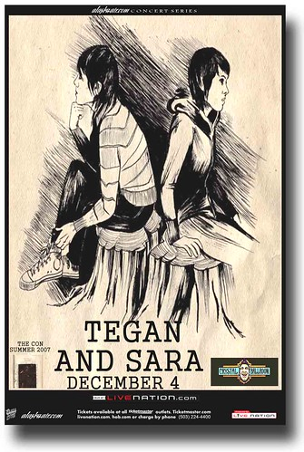 Tegan and Sara Poster THe Con
