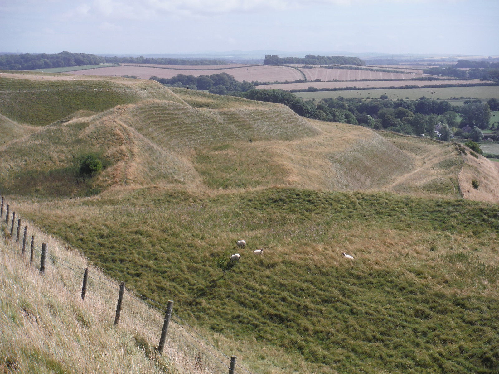 Maiden Castle, Southerly Ramparts SWC Walk 274 Dorchester South Circular or to Portesham