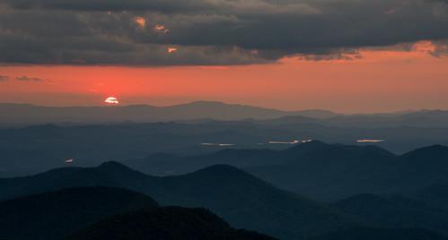 at appalachian trail mountains blairsville young harris north georgia brasstown bald summit peak sunset haze hazy nikon d810 hiking backpacking camping clouds ngc