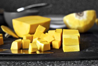 cubing up the butternut squash | by smitten kitchen