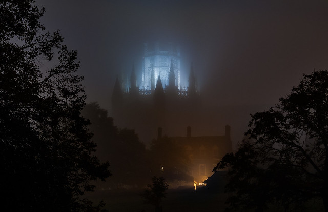 Ely Cathedral in autumnal mist