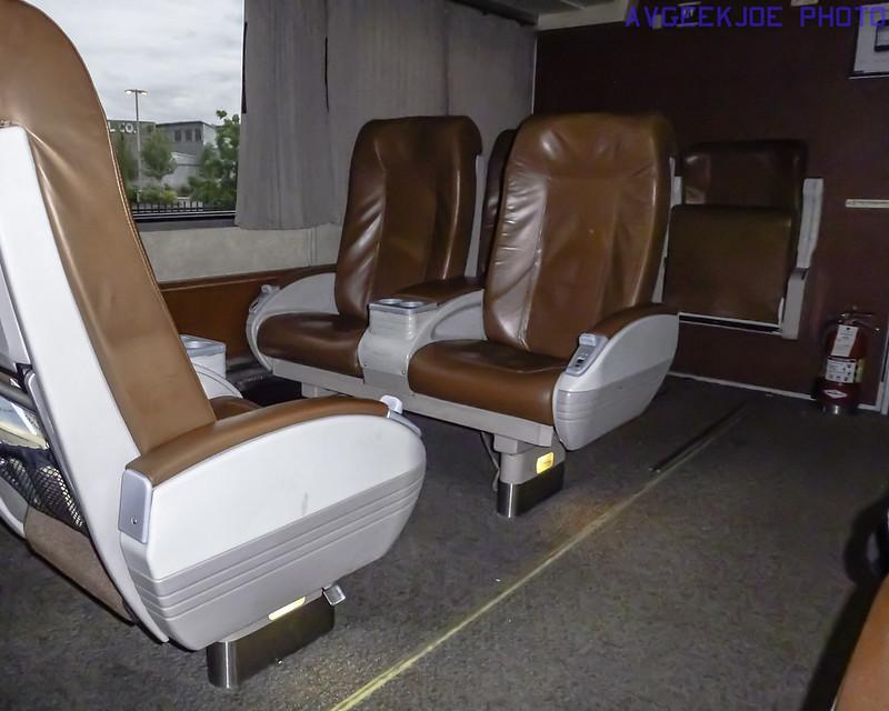 Amtrak Cascades Business Class Interior