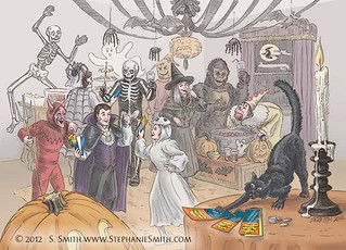 Illustration for lottery scratch-off Halloween promotion | by artsteph6