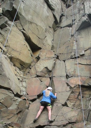 Rock Climbing at Interstate State Park in Taylors Falls