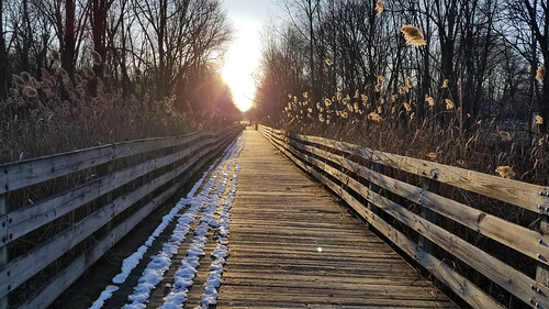 shelbytownship sunset trail bikepath biketrail trailway pathway path boardwalk bridge michigan