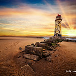 Lighthouse Sunset Wales