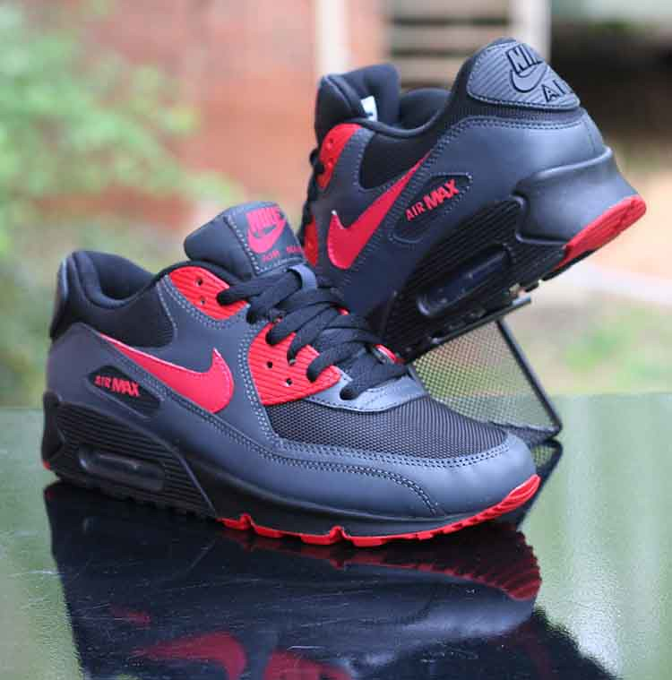timeless design 5131e fdcad ... Nike Wmns Air Max 90 Black Siren Red Anthracite 325213-020 Running Size  8