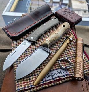 Emmer Knives Nessmuk, Benchmade Proper, Tactile Turn Slide