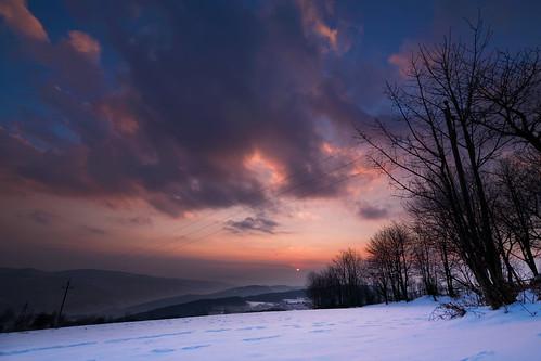 sunset snow feistritztal stcorona orthof