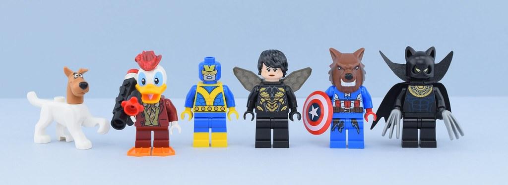 Custom Marvel Super heroes minifigures on lego bricks Classic Mantis