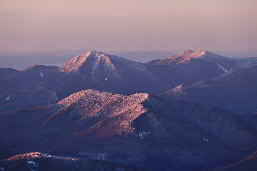 Mt Passaconaway, NH at sunrise   Some other prominent peaks