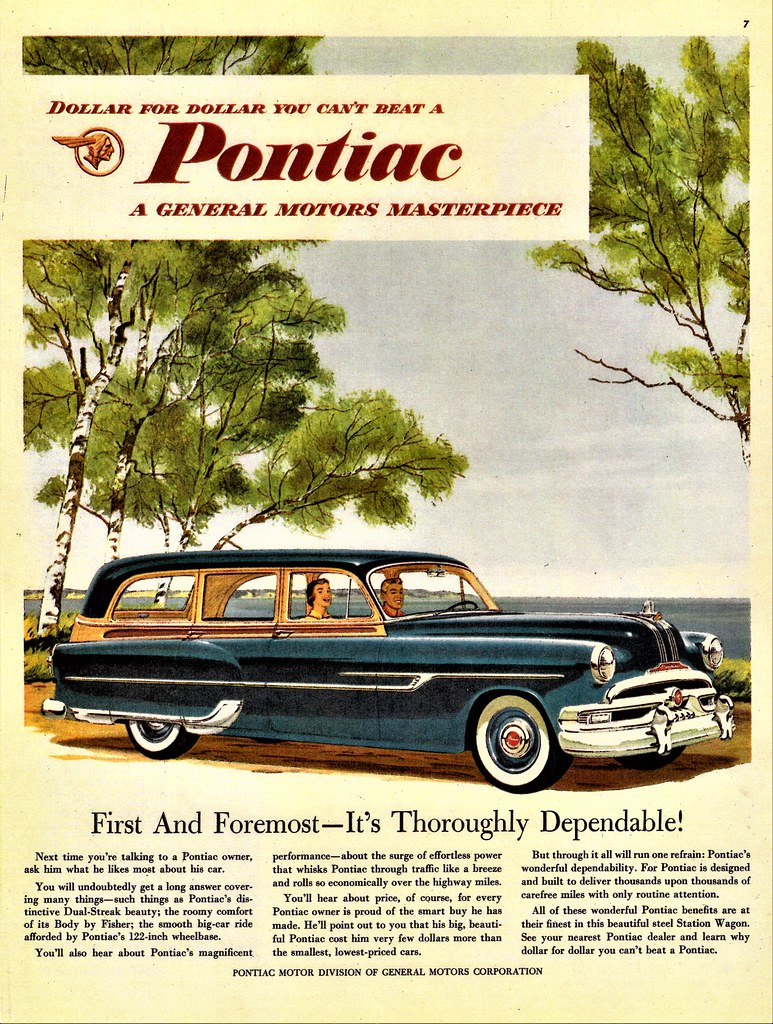 1953 PONTIAC CHIEFTAIN DELUXE STATION WAGON ALDEN JEWELL FLICKR
