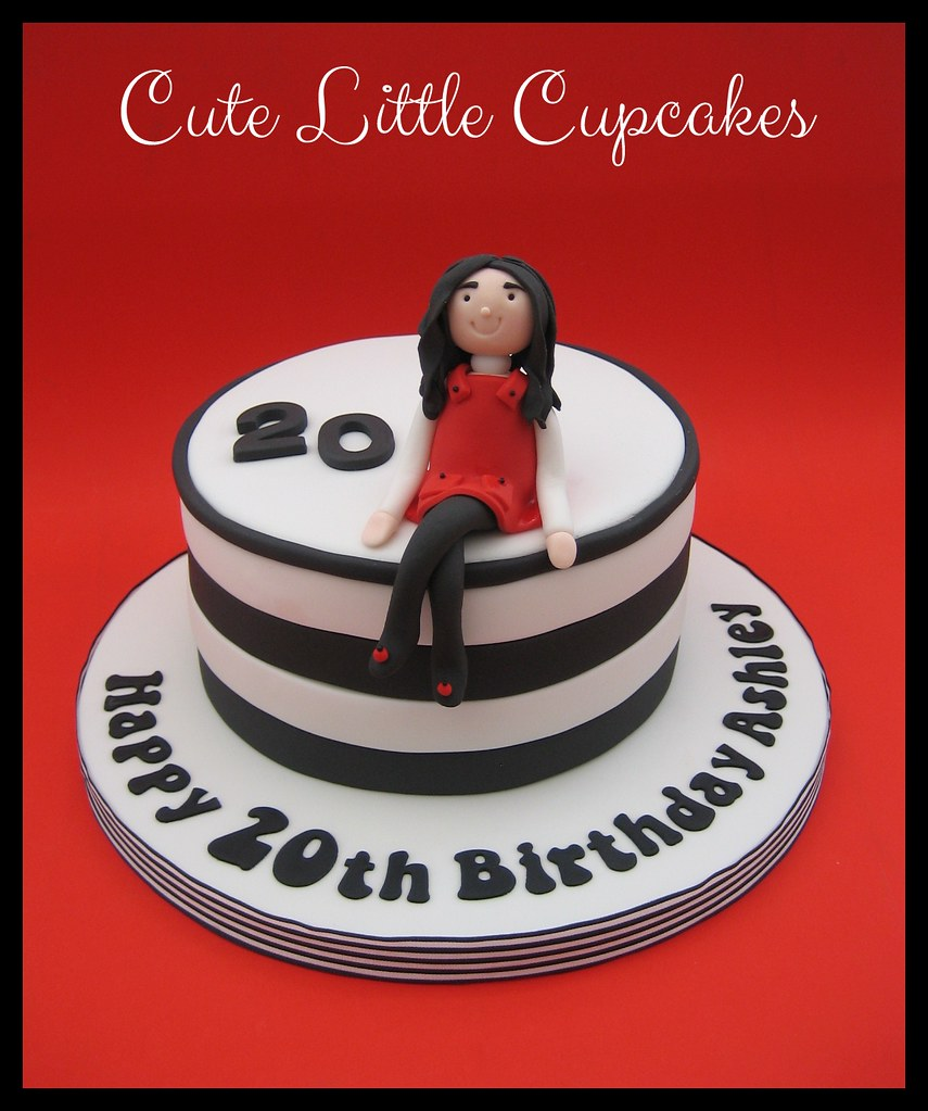 Awe Inspiring 20Th Birthday Cake Heidi Stone Flickr Personalised Birthday Cards Veneteletsinfo