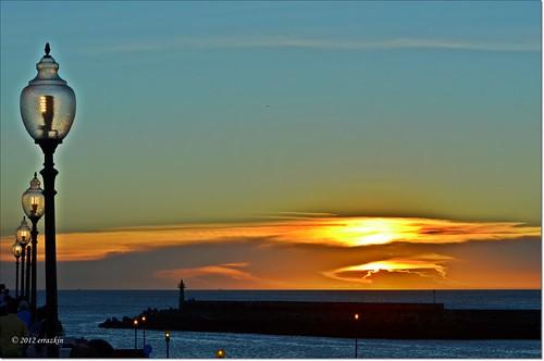 blue sunset sea sun sol colors azul mar natural taiwan colores naranja ocaso crepúsculo damsui irange ironde